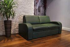 Grün Echtleder Rindsleder 2,5 Sitzer Sofa Couch Schlaffunktion 100% Echt Leder