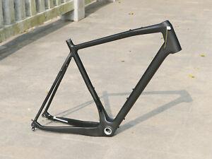 Full Carbon Matt Gravel Bike Disc brake Bicycle Frame 46cm 142mm * 12mm + Axle