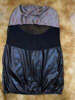 Beauty Night black silver strapless Camisole Top sleepwear nightwear size s/M