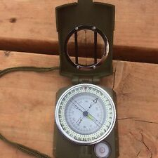 Professional Grade Military Surplus Type Metal Compass Excellent Quality Hiking