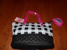 Betsey By Betsey Johnson Amor Tote Shoulder Satchel Handbag PURSE w/ Key chain