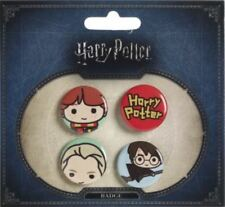 Harry Potter - Chibi Badge bouton set 3- Ron / DRACO / Harry Balai / Logo