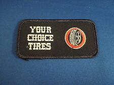 Your Choice Tires With Tire Image Logo Iron On Patch