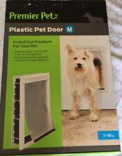 Premier Pet Plastic Pet Door Medium Up to 40 lbs Pounds Dog Cat