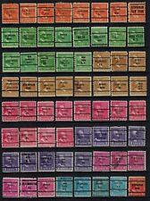 United States Precancels on 1938 Presidents to 25¢ (3), 100 diff, F/VF