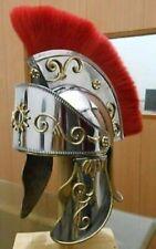 KING ARTHUR ROMAN HELMET WITH RED PLUME SCA HALLOWEEN+Express Ship