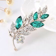 Sale Leaf Pattern Brooch Fashion Jewelry Wedding Bridal Pin Garment Decoration