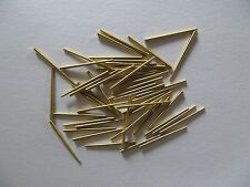 "Clock Brass Tapered Pins - Package of 50 - .065""/1.65mm to .030""/.76mm"