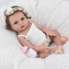 "Reborn Baby Girl Dolls Full Body Silicone 16"" Handmade Realistic Newborn Doll"