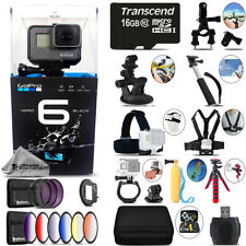 GoPro Hero6 Black 4K Ultra HD Camera + 9PC Filter Kit Set & More! - 16GB Kit