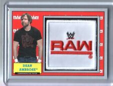 WWE Dean Ambrose 2017 Topps Heritage Silver Raw Com Patch Relic Card SN 2 of 25