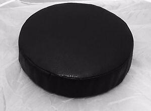 "Round Cushion foam bar stool chair 4""x13.5"" Gator brown gold vinyl leather"