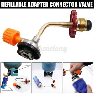 Butane Gas Refill Adapter Cylinder Tank Valve Coupler For Outdoor Camping BBQ