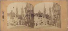 Nuremberg Allemagne Deutschland Photo Stéréo Vintage ca 1860