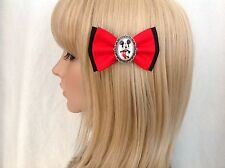 Mickey Mouse hair bow clip rockabilly disney pinup girl pin up Minnie red black