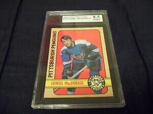 1972-73 OPC O-Pee-Chee #214 Lowell MacDonald Pittsburgh Penguins - KSA 8.5 NMM+