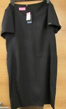 With Tags - Brook Taverner Corinthia V Neck Dress Navy Blue (size UK 18r)