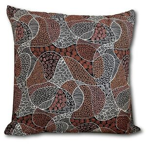 BUSH COCONUT DREAMING Brown by Aboriginal Artist Audrey Napanangka