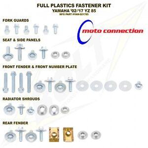 BOLT FULL PLASTICS FASTENERS /  BOLTS KIT for YAMAHA YZ85 2002 - 2018