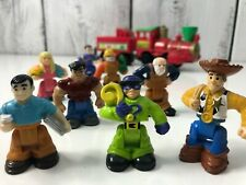 Vtg Mix Lot Fisher Price Little People Train Voiture Fisher-price Véhicule