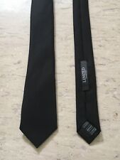 """Marks and Spencer limited collection black smart polyester tie 2.2"""" wide"""