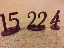 Paintable Wedding Freestanding table Numbers