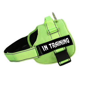 Adjustable Service Dog Vest Harness Patches Reflective Small Large Medium S-XXL
