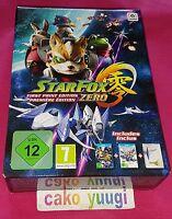 STAR FOX ZERO STARFOX ZERO FIRST PRINT EDITION PREMIERE NINTENDO WII U NEW PAL