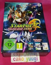 STAR FOX ZERO STARFOX ZERO FIRST PRINT EDITION PREMIERE NINTENDO WII U NEW PAL