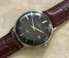 VTG BREITLING DIAMETER 33,5mm BLACK DIAL NICKEL PLATED CASE FROM 1950 APROX.