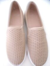 NOVO WOMENS FLAT CASUAL SLIP ON SHOES BEIGE SIZE 38 WORN ONCE