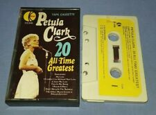 PETULA CLARK 20 ALL TIME GREATEST PAPER LABELS cassette tape album T8334