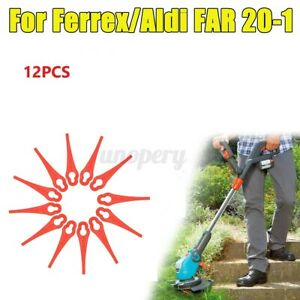For Ferrex Aldi FAR 20-1 Grass Trimmer Plastic Blades 97699 2002706 FE220 12PCS
