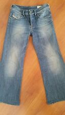 DIESEL YBO Womens Jeans size 25 x 26.5 Flare Stretch Made in Italy