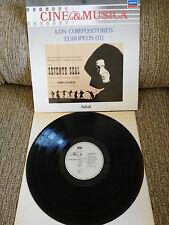 """LOS COMPOSITEURS EUROPÉENS II BANDE ORIGINALE LP VINYLE 12"""" 1987 VG VG+ ESPAGNOL"""
