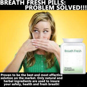 BREATH FRESH BAD BREATH PILLS TABLETS ANTI BAD BREATH SMELL GREAT KISSABLE