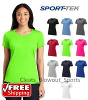Womens Sport-Tek Dry Fit Workout Performance Cotton Feel Wicking T-Shirt LST450
