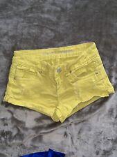 Mini Shorts Almost famous Juniors Denim size 1 Distressed Yellow