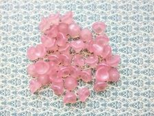 Czech glass pressed beads bell flower pink color 12 X 10 mm pack of 5