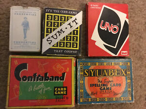 VINTAGE CONTRABAND CARD GAME,by Pepys,UNO, SUM~IT , SYLABEX  CARD GAME, CARDS