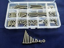 180pcs M3.5 Stainless Steel Phillips Round Head Screws Hex Nuts Washer Bolts Set