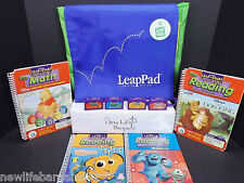 Leap Frog Leap Pad Carry on Storage Case & 4 Disney Books with their Cartridges