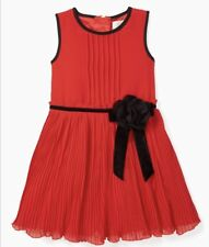 Kate Spade Toddler Girls Red Pleated Chiffon Party Dress Sz 4 NEW $108