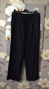 Marisota Black Summer Trousers size 16 ♡ ♡ ♡ Worn Once