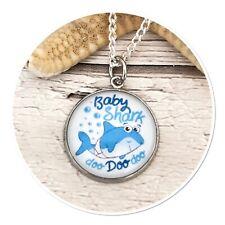 Baby Shark ** doo doo charm pendant necklace