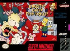 Krusty's Super Fun House Near-Mint SNES Super Nintendo Video Game