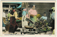 Philippines, Philippine Islands, Vegetable Vendors, old postcard