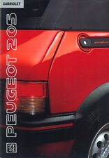 Peugeot 205 Cabriolet 1991 Dutch market sales brochure