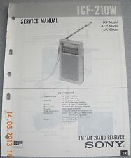 SONY ICF-210W 2-Band Radio Service Manual