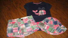 BABY GAP KIDS 5T 5 YS 6 REG PLAID SHORTS WHALE SHIRT HAT LOT